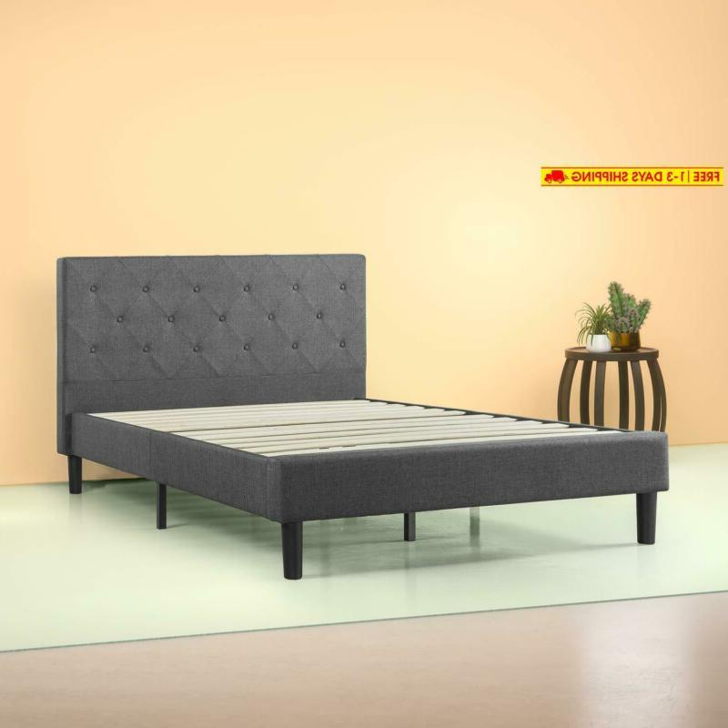 shalini upholstered diamond stitched platform bed in