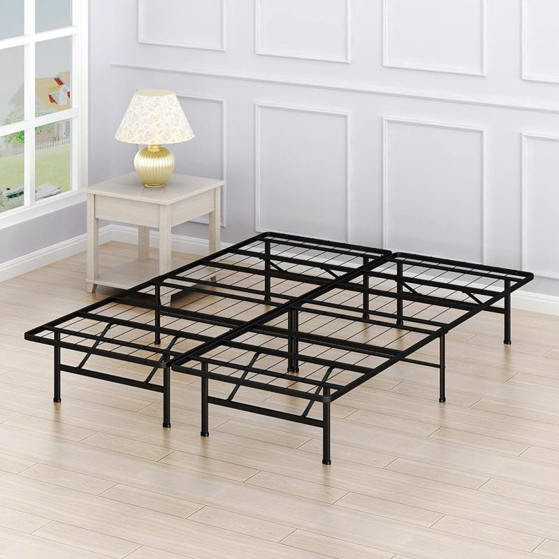 14-Inch Queen Size Mattress Metal Foundation Bed Frame Lbs Capacity