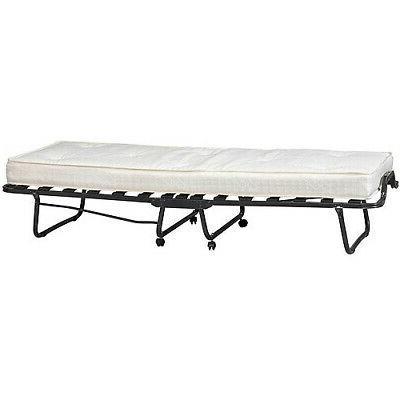 """Single Bed 4.5"""" Foam Mattress Slat Metal Frame"""