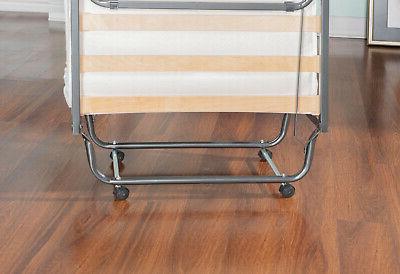 Single Size Folding Bed Foam Mattress Slat Frame