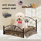 Small Dog Bed Cushion Metal Frame Mattress Pet Upscale Cat C