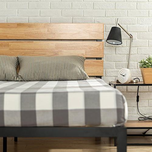 Zinus Metal Wood Platform Wood Slat