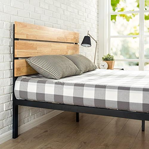 Wood Bed with Wood Slat Queen
