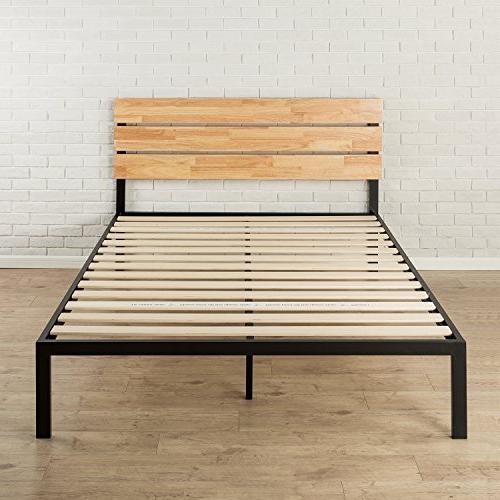 Zinus Paul Metal Wood Platform Wood