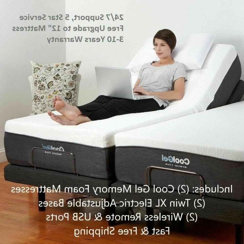split king electric bed frame and mattresses