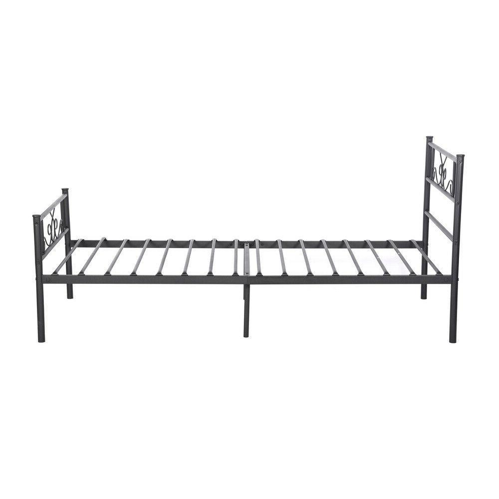 Stable Bed Frame Twin Size Headboard Footboard Heavy Duty