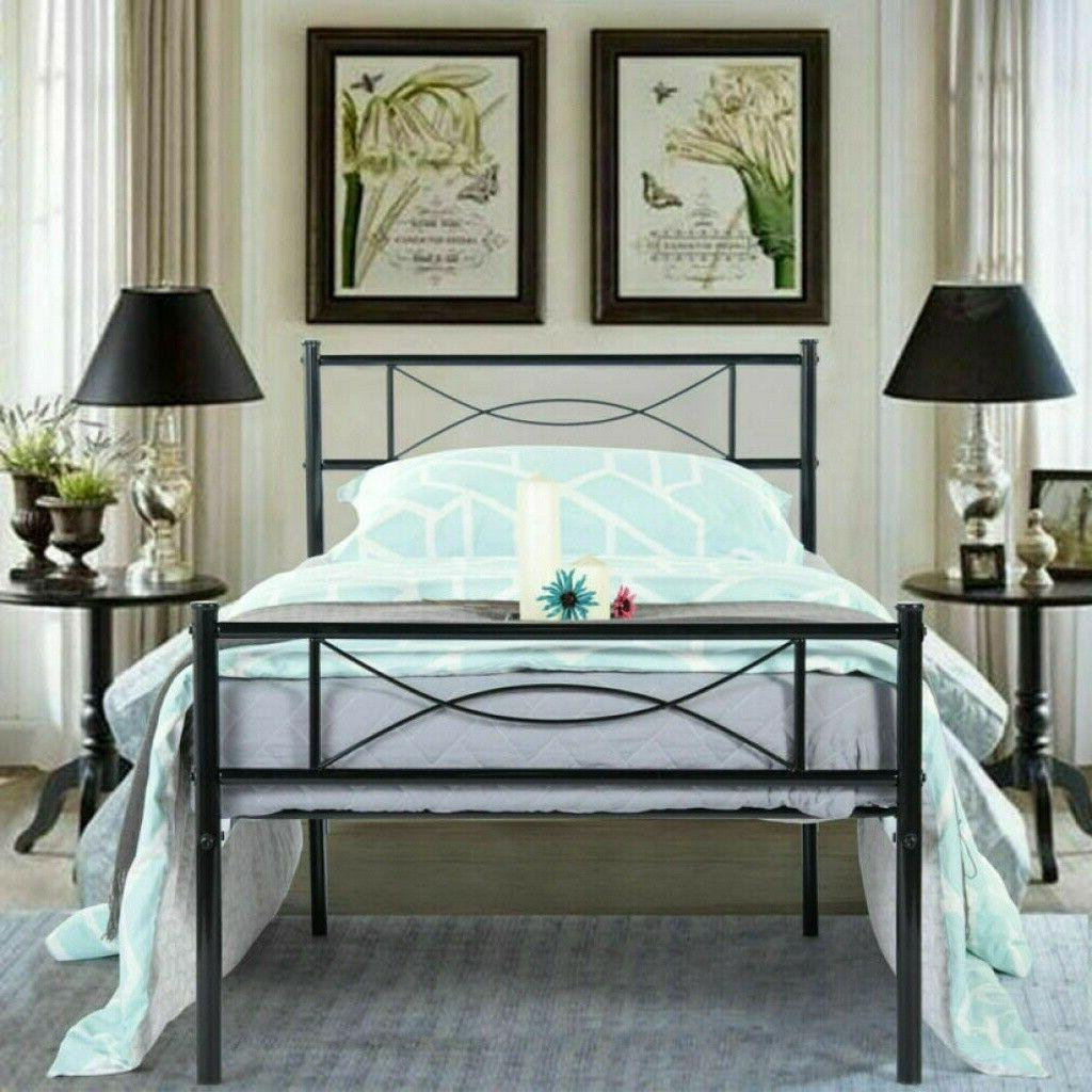 Stable Bed Frame Twin Size Footboard Heavy