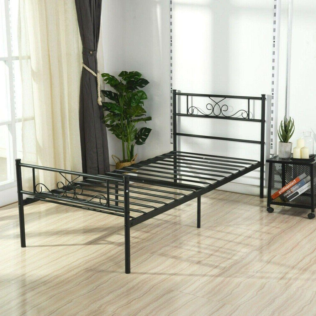 Stable Bed Size Metal Platform Footboard Duty