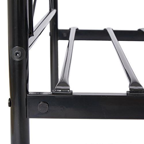SimLife Metal Frame Twin 6 Two Steel Platform Kids Black