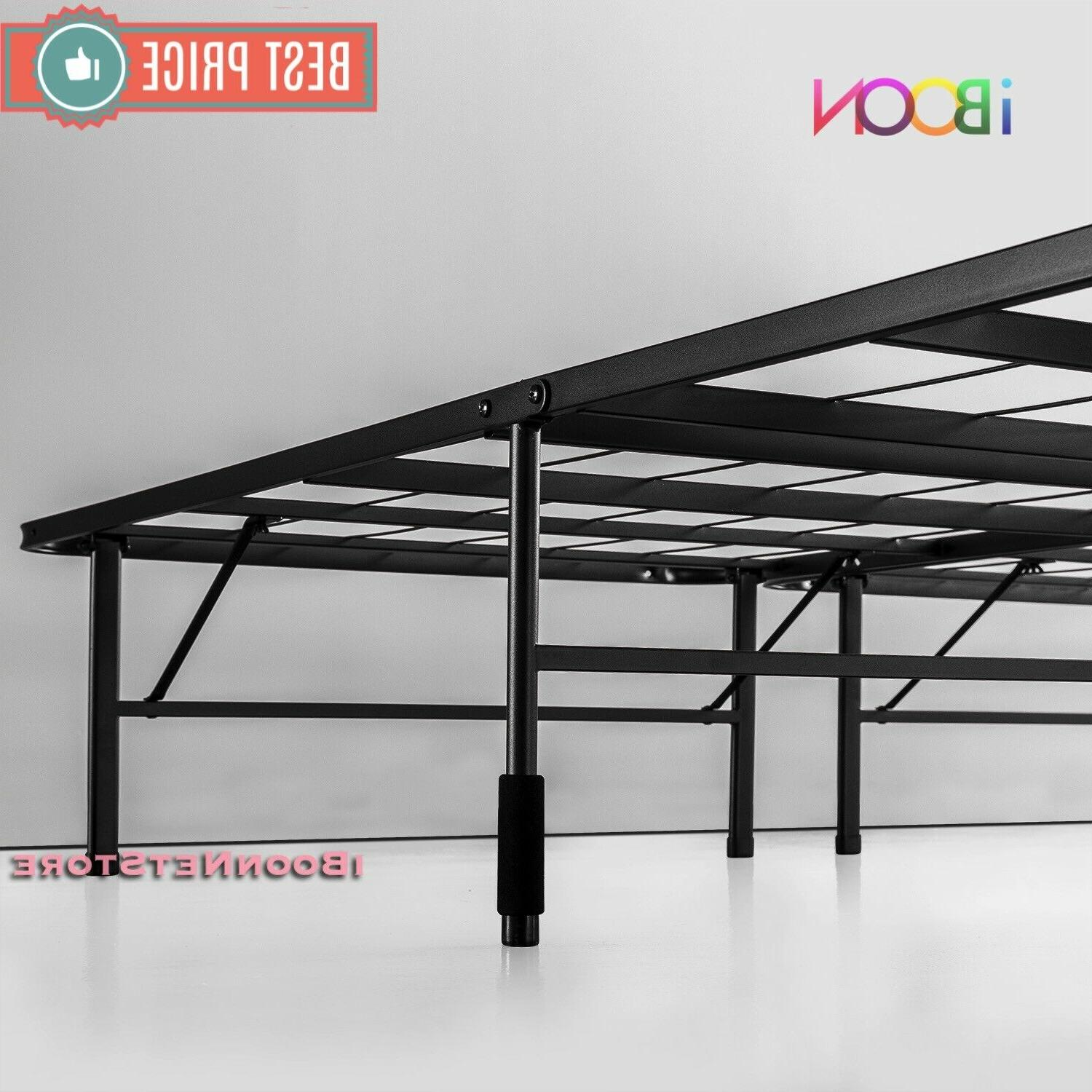 Steel Platform BED FRAME Queen Foldable High Profile Duty