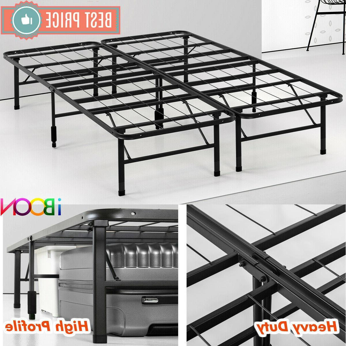 steel platform bed frame queen size metal