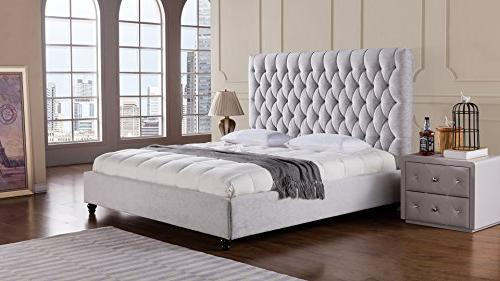 American Eagle Furniture Sterling Collection Fabric Bedroom High
