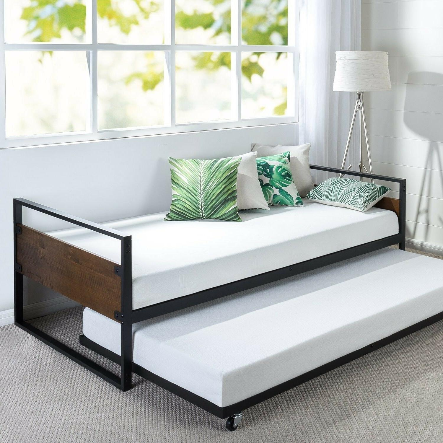 Stylish Functional Twin Daybed and Frame Set Premium Steel