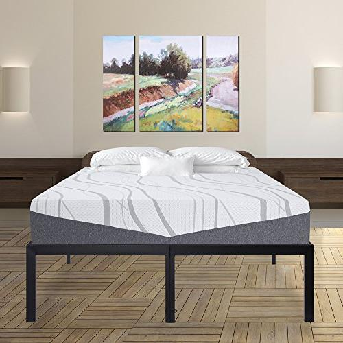 SLEEPLACE 18 Inch Heavy Steel Bed Frame
