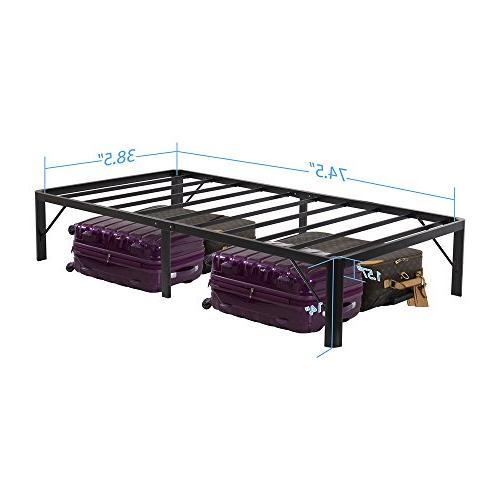 Olee Inch Tall Steel Slat Bed Frame/Black,