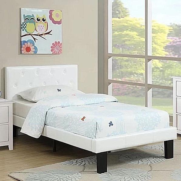 Twin Platform Beds Kids Girls Teens White Room