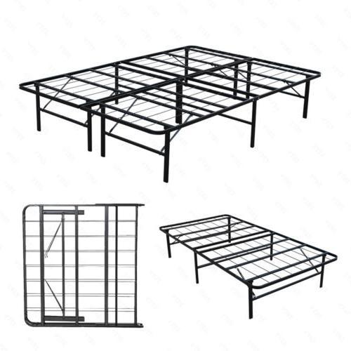 metal bed frame platform mattress