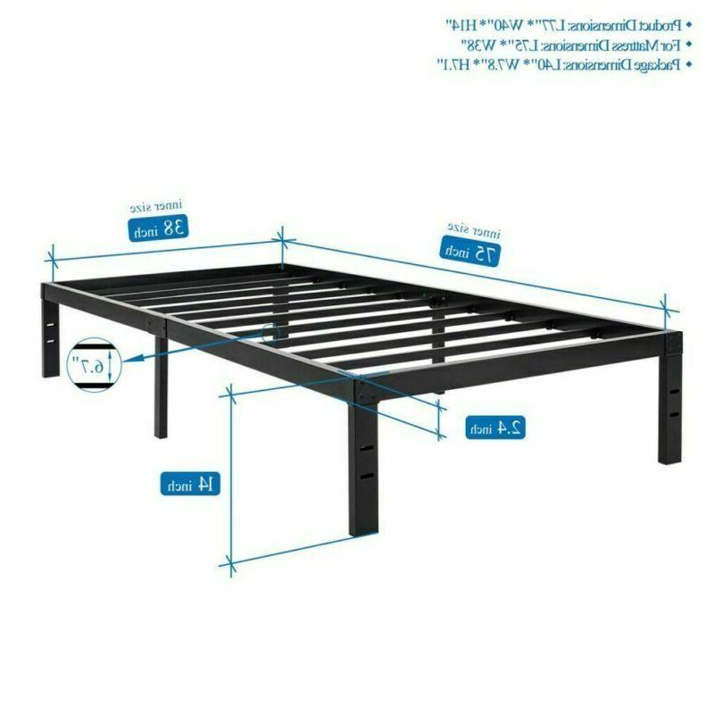 Twin / Full Queen Bi-Fold Metal Bed Foundation