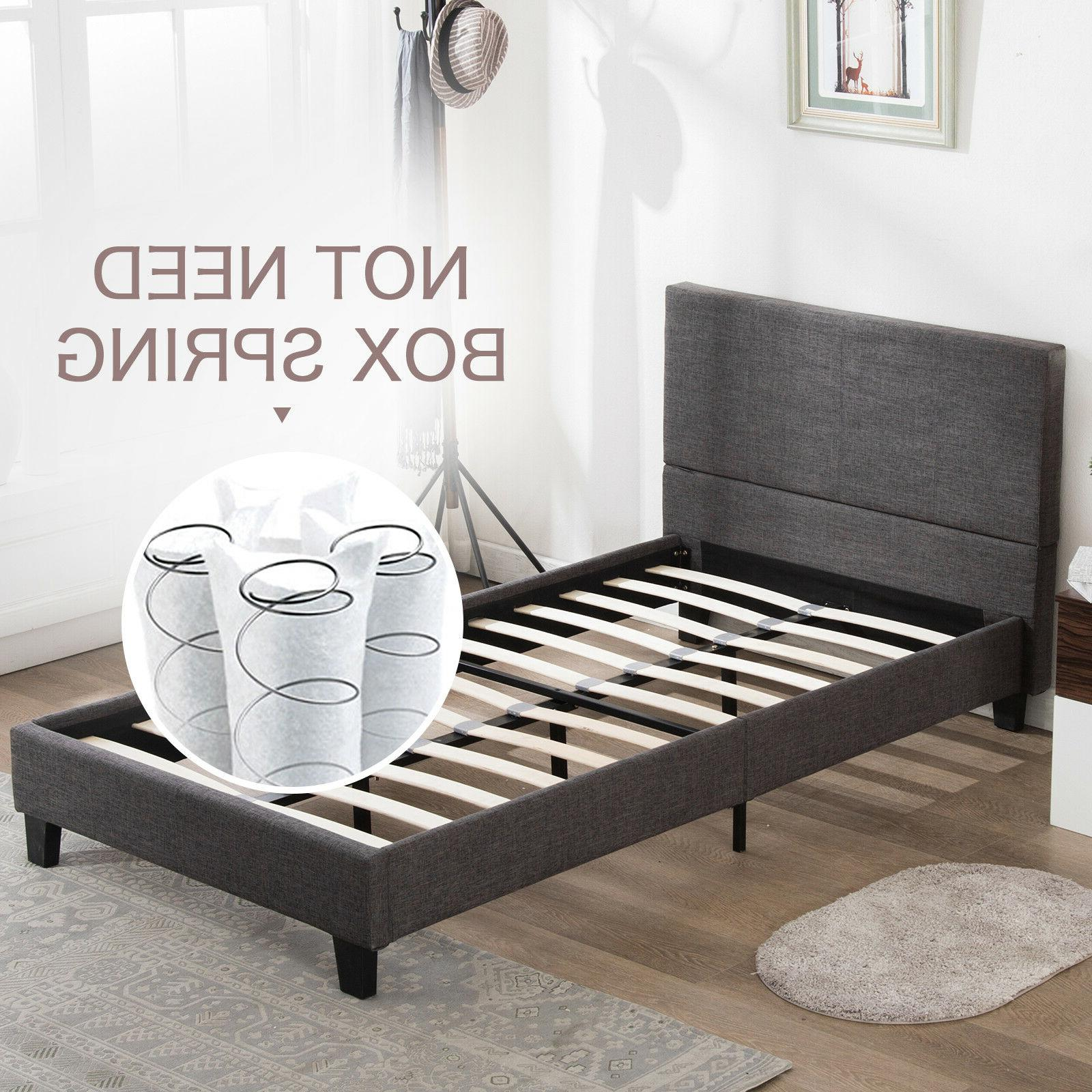 Twin/Full/Queen Size Bed Frame w/Wood Slats