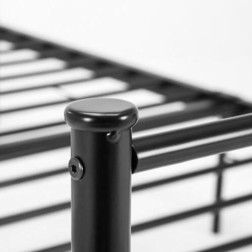 Twin Metal Frame Platform FootBoard Home BedRoom