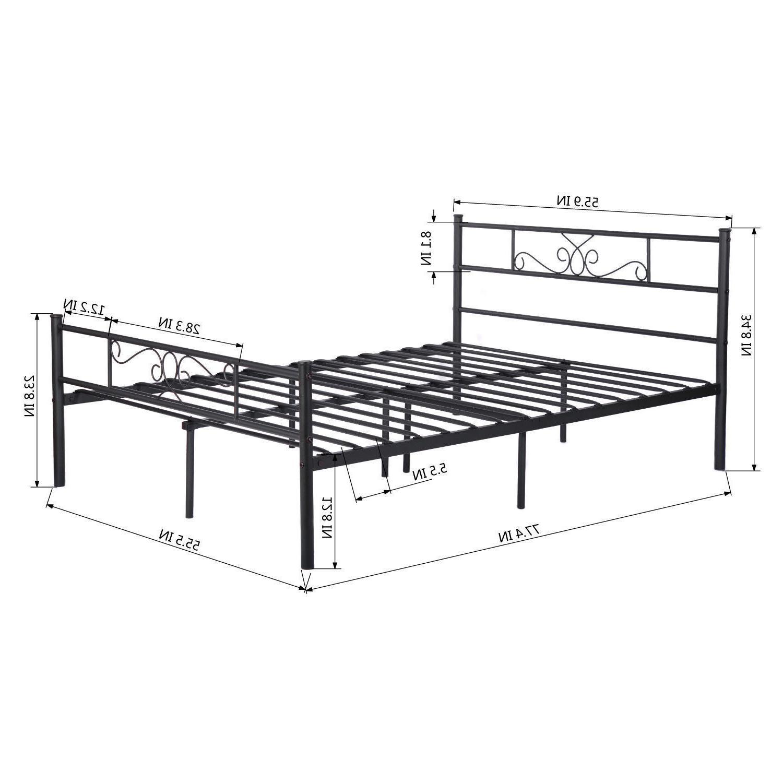 Twin Full Size Metal Bed Platform Bedroom