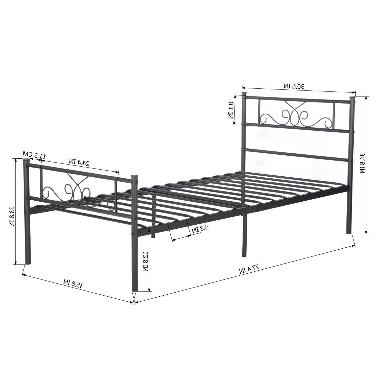 Twin Full Queen Metal Bedroom