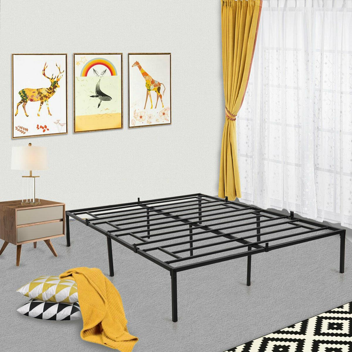Easy Iron Bed Frame Mattress wUnder Storage