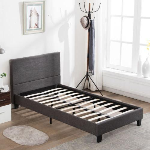 TWIN FULL Platform Bed Linen Headboard