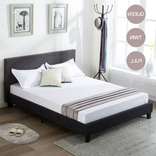 twin full queen size platform bed frame