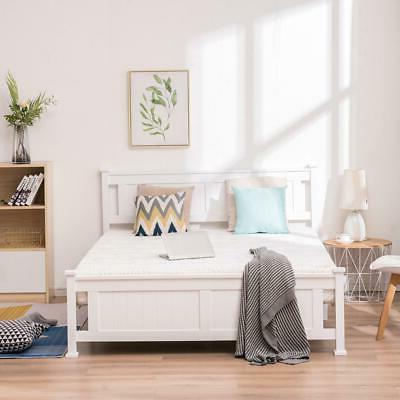 Queen Size Wooden Bed Frame Platform Wooden Slat Support w/