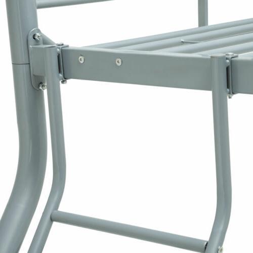 Twin over Metal Bunk Beds Kids Teens Dorm Bedroom w/Slope Ladder