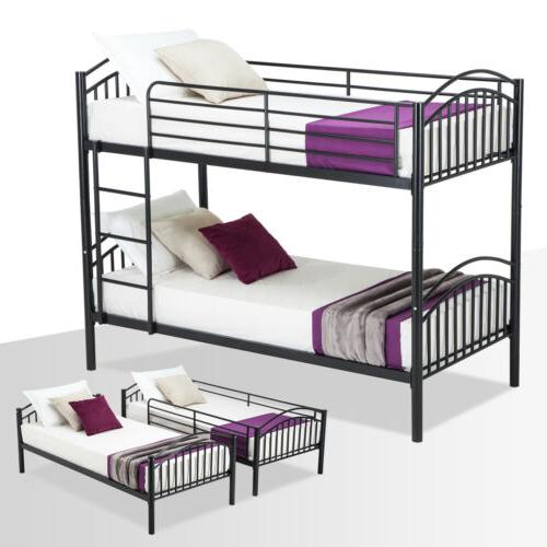 twin over twin metal bunk bed frame