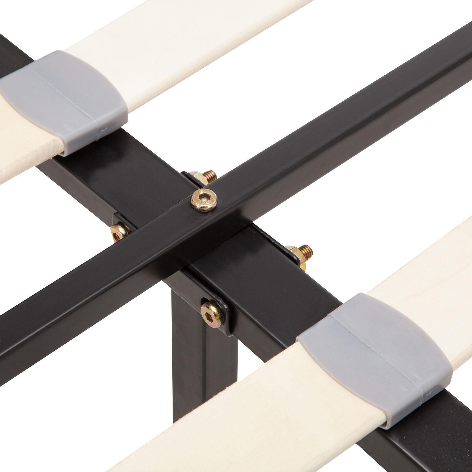 Twin Leather Platform & Slats Upholstered