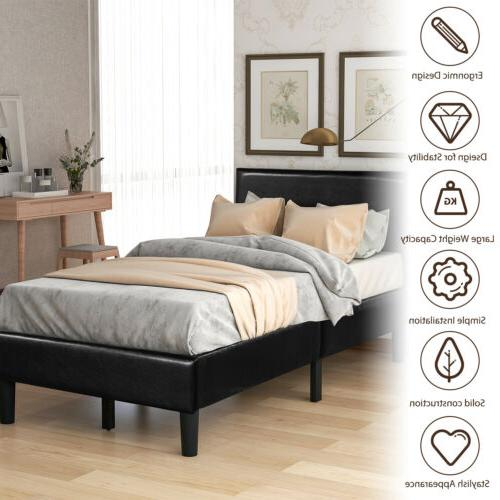 twin queen king size bed frame leather