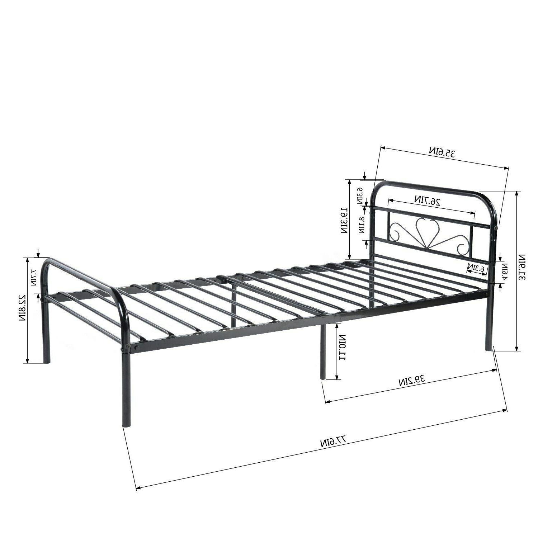 Twin Mattress Foundation Platform Bed Frame