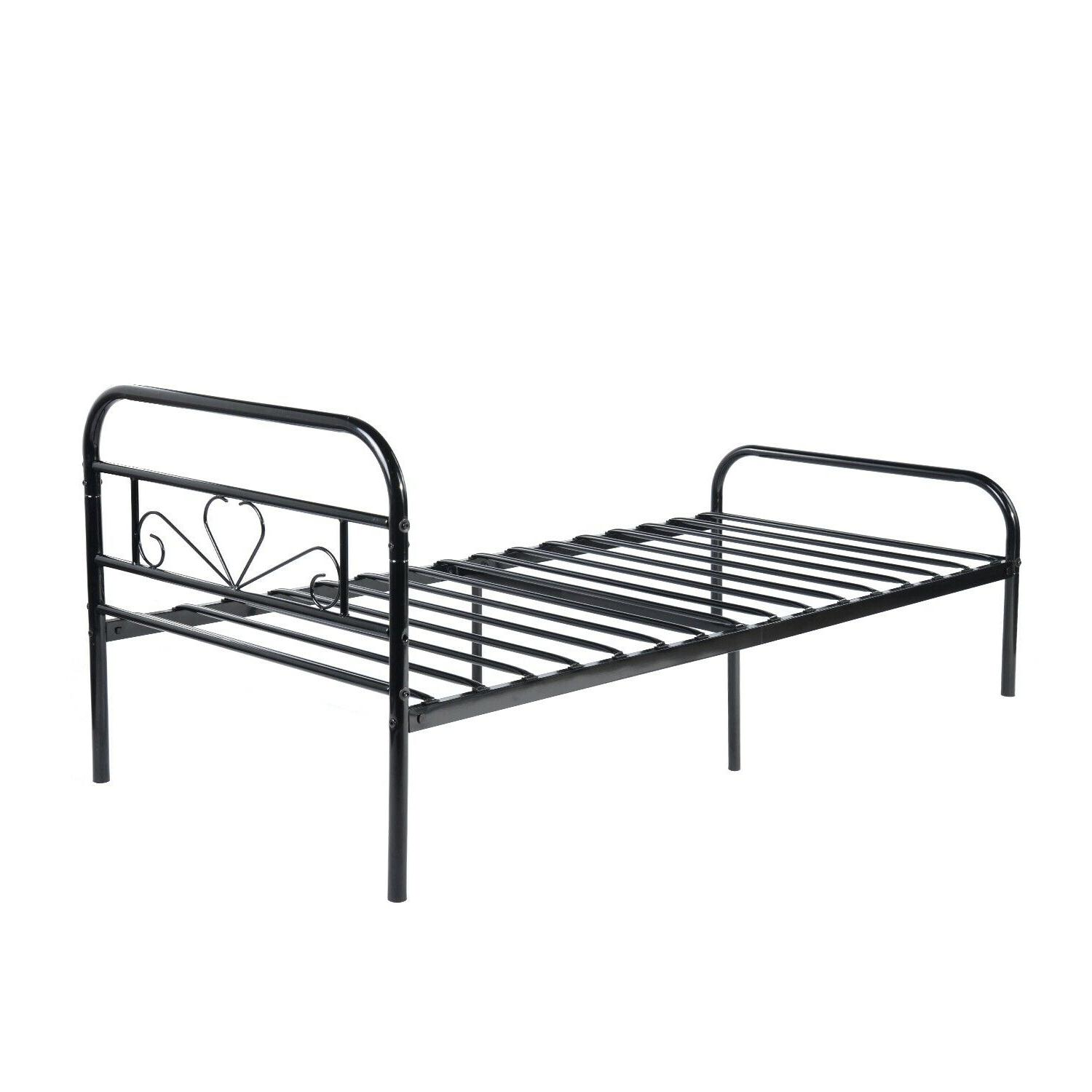 Twin Size Mattress Foundation Platform Bed Frame Easy Assembly