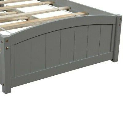 Twin Size Frame W/Trundle Wood Matress Foundation