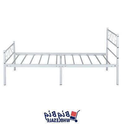 Twin Frame White Mattress Foundation with