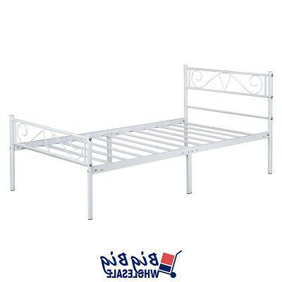 Twin Metal Bed Frame Mattress with