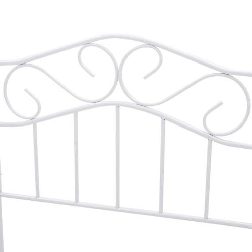 Twin Size Metal Bed Footboard White