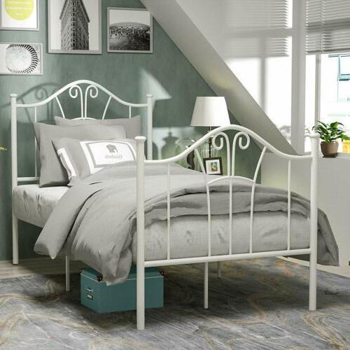 twin size heavy duty metal bed frame