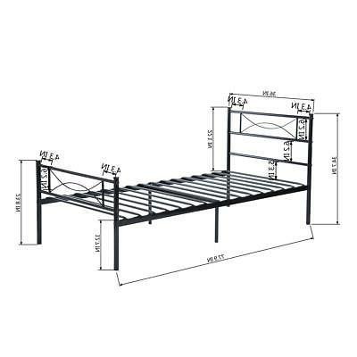 Twin Frame Leg W/Headboards Bedroom