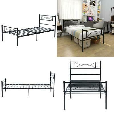 twin size metal bed frame platform 6