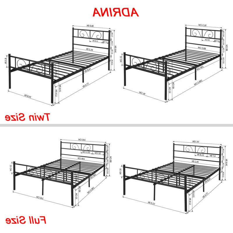Twin Full Size Bed Furniture Bedroom Legs