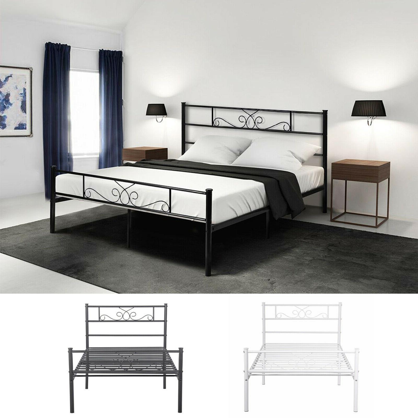 twin size metal bed frame platform headboards