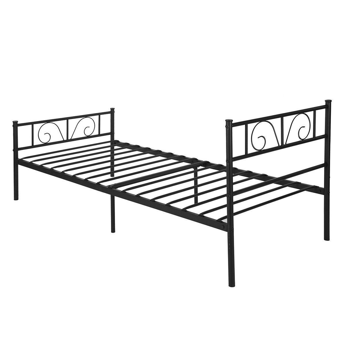 Twin Bed Frame Platform Furniture 6 Legs