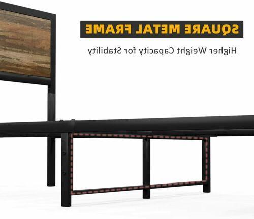 Full Metal Frame Mattress Foundation Bedroom