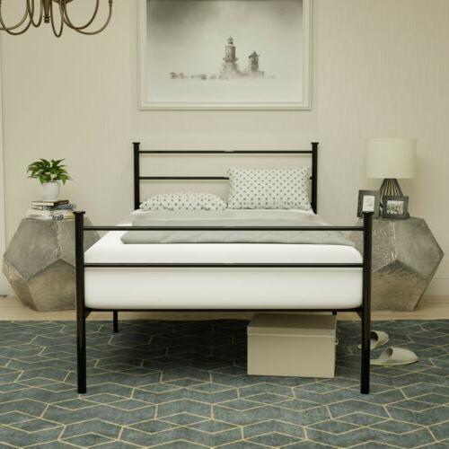 twin size metal bed frame platform w