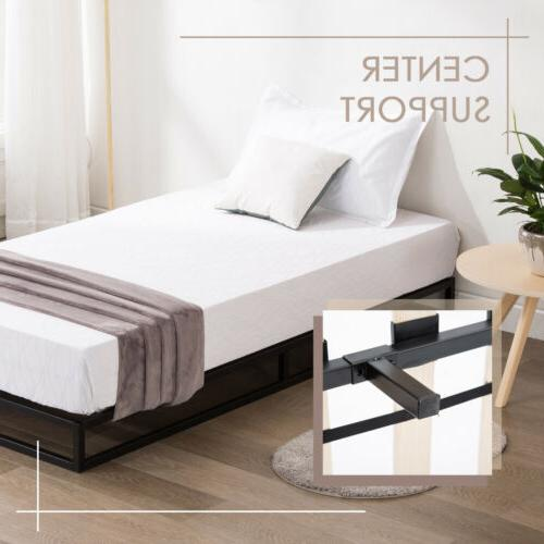 Twin Size Metal Slats Mattress Foundation Bedroom