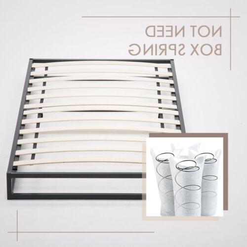 Twin Size Metal Frame Platform w/ Slats Mattress